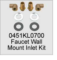 0451KL0700 Faucet Wall Mount Inlet Kit