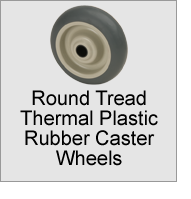 Round Tread Thermal Plastic Rubber Caster Wheels
